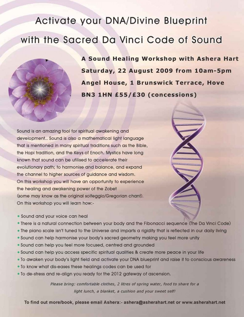 Solfeggio sound healing workshop