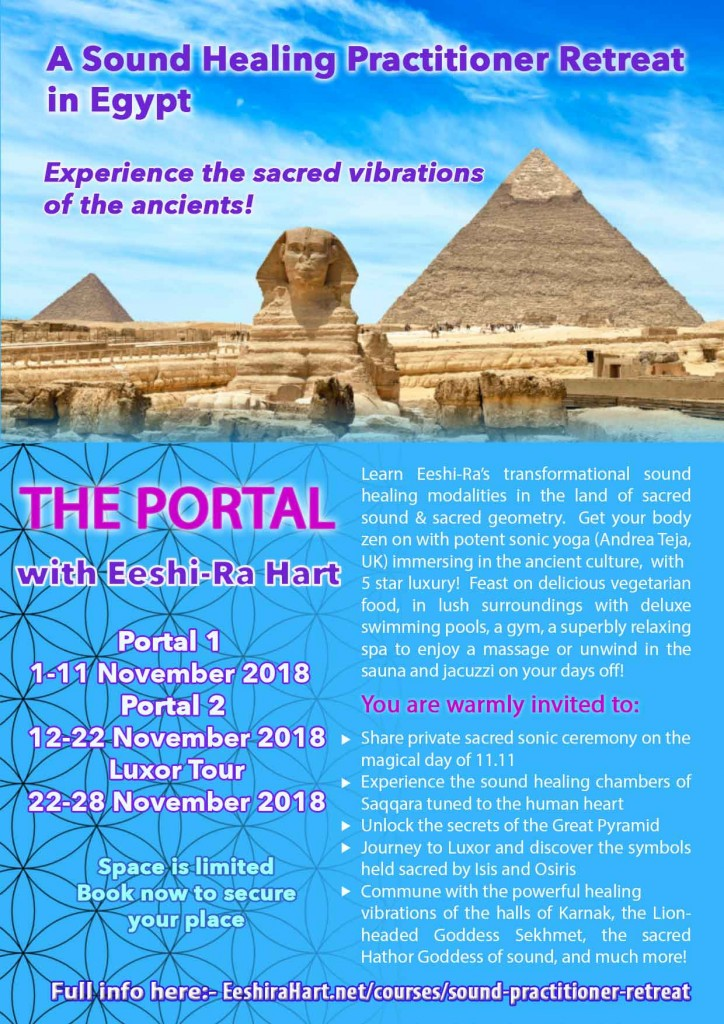Learn tuning forks and healing with the voice in the land of ancient vibrations!