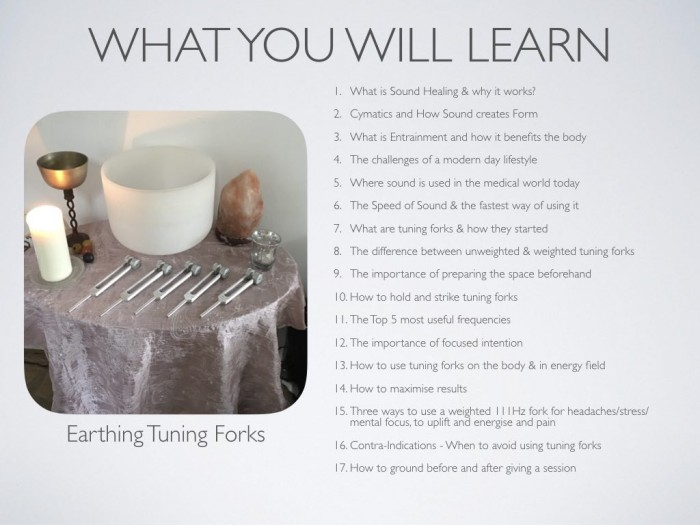 Earthing Tuning Forks Topics